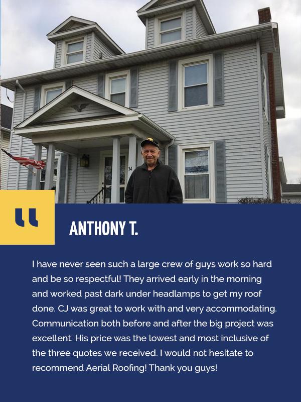 roofing testimonial